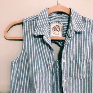 Authentic American Heritage Tops - SO American Heritage Striped Button Up Shirt
